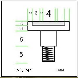 magnetic column magnet screw
